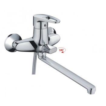 НВ2265 Смеситель однорычажный для ванны с длинным изливом хром