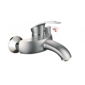НВ3221-5 Смеситель однорычажный для ванны с коротким изливом цвет-сатин
