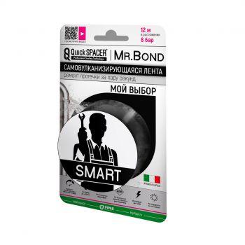 Mr.Bond Универсальная лента для ремонта 50мм х 3м чёрная QuickSPACER