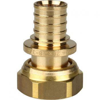 SFA-0034-002034 Переходник 20х3/4 с накидной гайкой (евроконус) STOUT