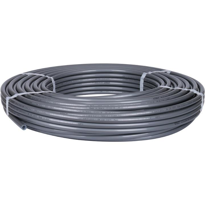 SPX-0001-001622 STOUT 16х2,2 Труба из сшитого полиэтилена с кислородным слоем серая